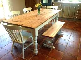 farmhouse dining room set. Farmhouse Style Dining Room Set Rustic Table With Bench Home F
