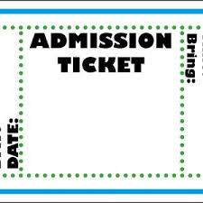 Admission Ticket Template Free Download Admission Ticket Template Free Download Rome Fontanacountryinn Com