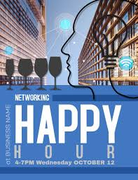 Happy Hour Flyer Business Networking Happy Hour Flyer Ad Template Postermywall