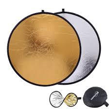 Light Bounce Photography Light Bounce Reflector 24inch 60cm Round Collapsible Sun Reflectors Diffuser Gold And Silver 2 In 1 For Photography Camera Flash Lighting Photo