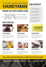 handyman business handyman business free flyer template download for photoshop