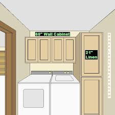 Laundry Room Design Picture with 60 inch wall cabinet and 21 inch linen