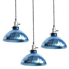 blue pendant light new cobalt lighting lights kitchen shade portfolio 725 in h 475 w le