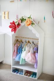 sequin hangers and childrens dress up closet design