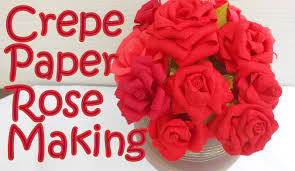 Flower Making With Crepe Paper Step By Step Paper Rose Flower Making Zlatan Fontanacountryinn Com