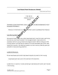 ohio lead based paint disclosure form lead paint disclosure canada legal templates agreements