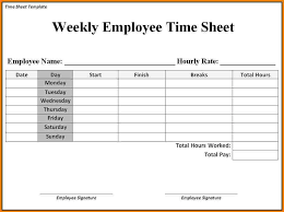 Timesheet Word Simple Timesheet Simple Printable Time Sheets