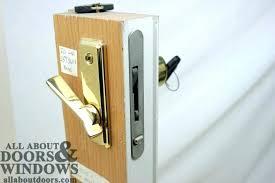 patio door locksets how to install patio door lock replacing patio door locks repairing sliding patio