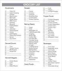 grocery list example sample grocery list template 9 free documents in word excel pdf