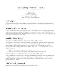 Retail Manager Sample Resume Retail Sales Manager Resume Retail ...