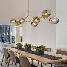 lindsey adelman globe glass pendant lamp branching bubble modern chandelier light for kitchen cafe cloth