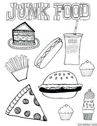 Food Coloring Pictures Healthy Food Coloring Page Sheets Pages