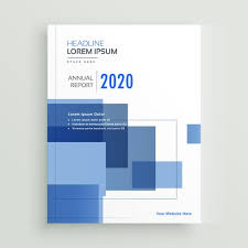 Business Annual Report Brochure Template Design With Blue Geomet Amazing Annual Report Template Design