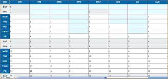 Yearly Planning Calendar Template Excel Weekly With Time Slots Free