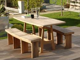 wooden outdoor furniture.  Outdoor Table Beautiful Wooden Outdoor 3 Outstanding Plans 21 Garden And Bench  Puydq Cnxconsortium Inside The Incredible With Furniture P