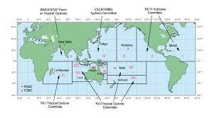 Typhoon Tracking Chart Worldwide Tropical Cyclone Centers