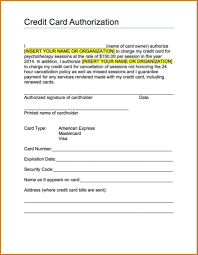 Recurring Payment Authorization Form Authorization To Charge Credit Card Template Fiddler On Tour