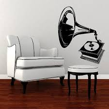 Small Picture Retro Old Gramophone Vinyl Wall Sticker Gift Art Graphic Design
