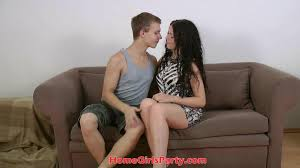 Brunette teen erica loves huge cock