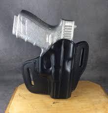 glock 19 23 32 owb leather pancake holster tsp image 0