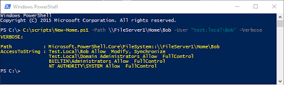 How To Create A Directory Create Ad User Home Folder And Apply Permissions Using Powershell