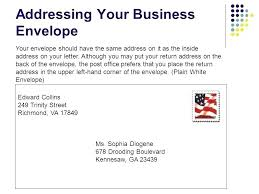 Addressing Business Letters 16 Letter Envelope Where Put The Address