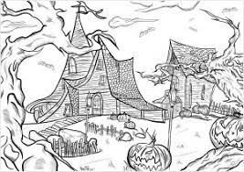 Free printable halloween coloring pages. Halloween Coloring Pages For Adults