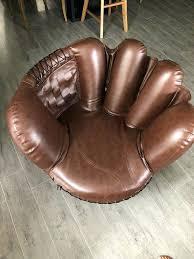 favorite baseball glove chair and ottoman e0026263
