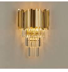 Crystal Wall Lights Luxurax Gold Modern Wall Sconce Light Crystal Wall Luxury Creative Warm Hallway Bedroom Bedside Lamp