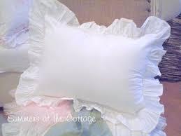 ruffled pillow shams. Brilliant Ruffled SHABBY CHIC POPLIN WHITE RUFFLE PILLOW SHAM Throughout Ruffled Pillow Shams F