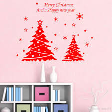 Christmas Decorations For The Wall Wholesale Diy New Year Christmas Doubles Tree Wall Decor Merry