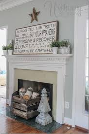 Summer mantel decor with handpainted sign