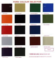 Ford Falcon Colour Chart Corporate Colours
