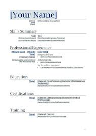 Free Easy Online Certifications Easy Free Resume Template Free Easy