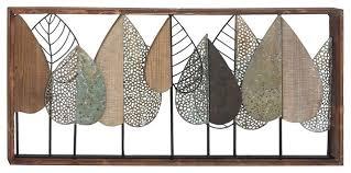 contemporary rectangular iron and wood