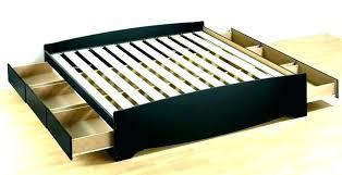 California King Platform Bed With Bookcase Headboard King Platform ...