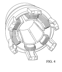 patent us20040183388 method for winding a stator of multi phase patent drawing