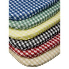 gingham check tie on seat pad 16 x 16 kitchen outdoor dining chair cushion