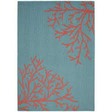 sea c teal santa fe c 5 ft x 7 ft area rug