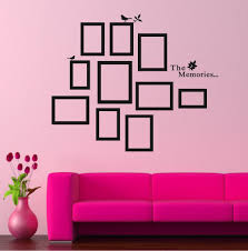 Small Picture Diy Photo Frame Black Removable Vinyl Wall Stickers Decals Quote