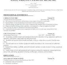 Sample Resume For Electrician Awesome Electrician Resumes Samples Resume Sample Format Fabulous