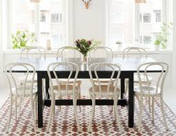 white bentwood chair table setting
