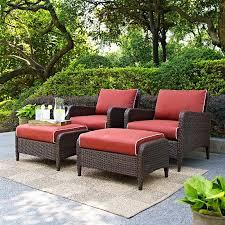 sangria 4 piece wicker outdoor patio furniture set kiawah rc willey furniture