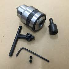 lathe drill chuck. mini electric drill chuck 1.5-10mm b12 taper mounted lathe pcb press