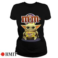 Official Baby Yoda hug M&M's shirt, hoodie, sweater, and v-neck t-shirt