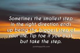 Direction Quotes Beauteous Life Quotes Sometimes The Smallest Step In The Right Direction Ends