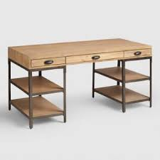 wood office table. Wood And Metal Teagan Desk Office Table