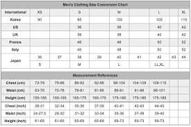 Mens Jacket Sizes Conversion Chart Mens Clothing Size Conversion Chart Size Clothing