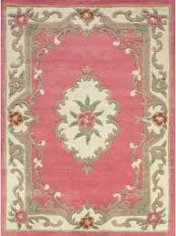 quick view lotus premium aubusson pink wool rug