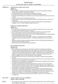 Social Media Specialist Resume Sample Social Media Specialist Resume Samples Velvet Jobs 4